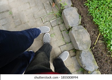 two pairs of twin shoes