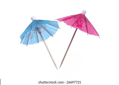 two paper umbrella