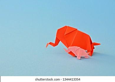 How to Make an Origami Elephant Designed by Fumiaki Kawahata | 280x390