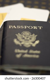 Two passports and two plan tickets