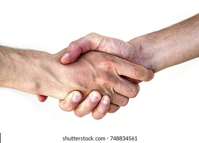 two people behind a white background handshake, sincerely handshake, a strong handshake, handshake image in different ways,