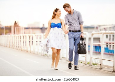 Two people in love spending time together