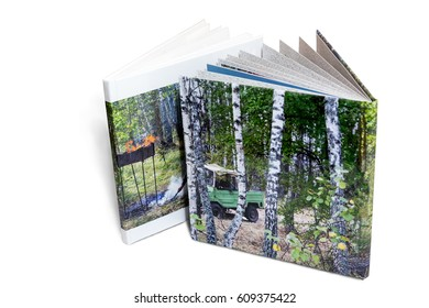 Two of the photo album is decorated in a beautiful photobook. Presented on a white background.