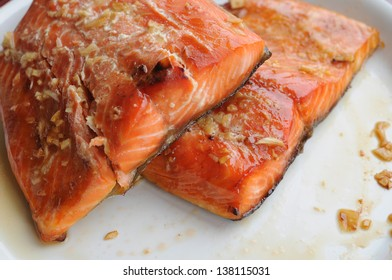 two piece of grilled salmon