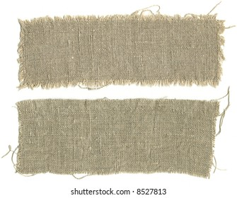Two pieces sackcloth isolated on a white background