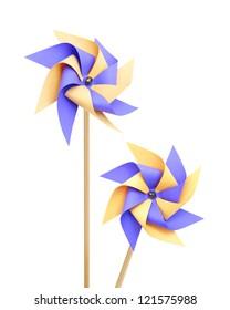 Two pinwheels on white