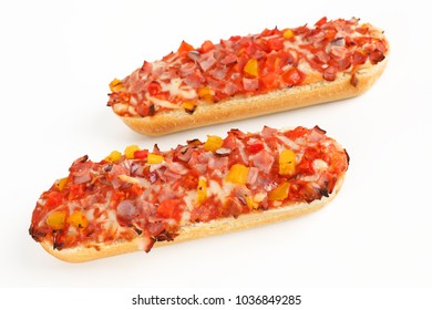 Two Pizza baguette with ham