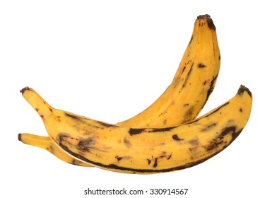 two plantain banana isolated on white background