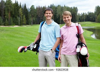 Two players on the golf course
