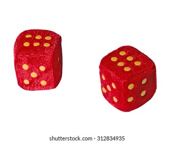 Two plush dice - Isolate on white