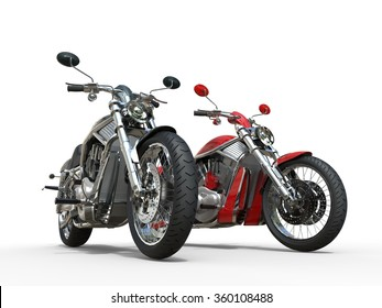 Two powerful vintage motorcycles