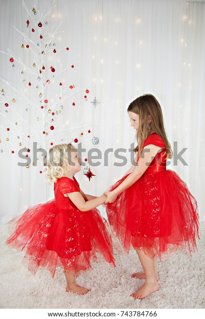 Two Pretty Little Girls Blonde Hair Stock Photo (Edit Now