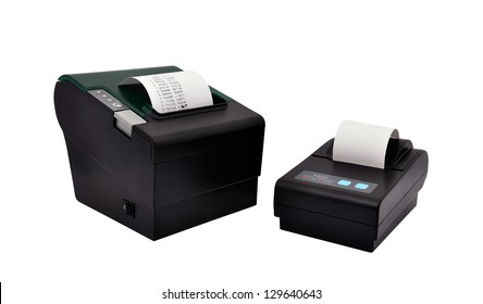 two printer for fiscal cash register and check