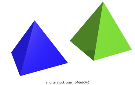 Two pyramids in perspective