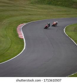 Two Racing Bike Fast Cornering