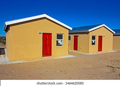 Two recently built low-cost RDP homes for poor families in Western Cape, South Africa