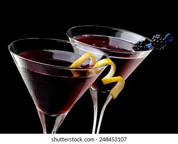 Two red cocktails