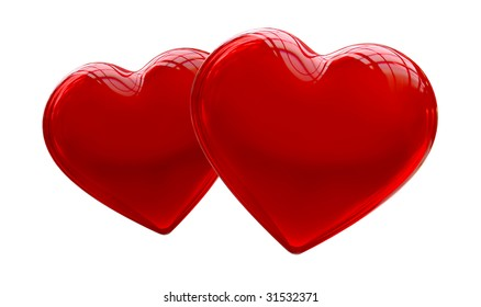 Two red heart
