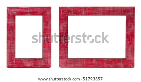 Two Red Picture Frames Horizontal Vertical Stock Photo Edit Now