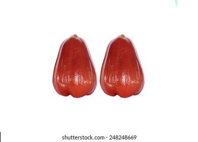 two  red rose apple