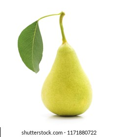 Two ripe pears isolated on a white background.