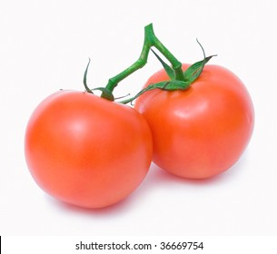 two ripe tomatoes