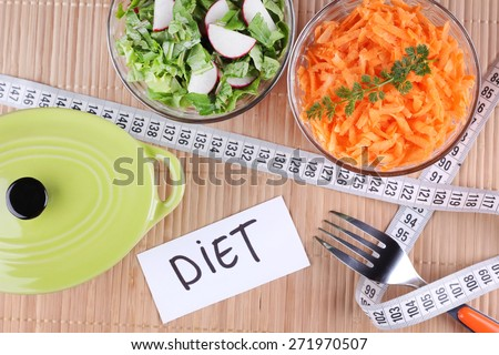 Two Salads Lose Weight Weight Loss Stock Photo Edit Now 271970507