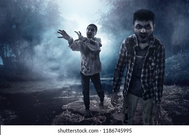 Two scary zombies