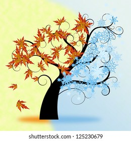 two seasons - winter and autumn