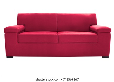 Two seats cozy sofa isolated on white