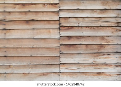 two segments of overlaid planks material