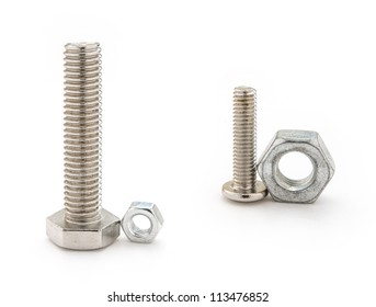 two sets mismatch bolt and nut