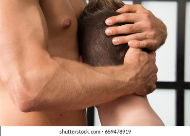 Two sexy guys. Love and Relationships. Sex and passion. Tenderness and beauty. Two men love each other.
