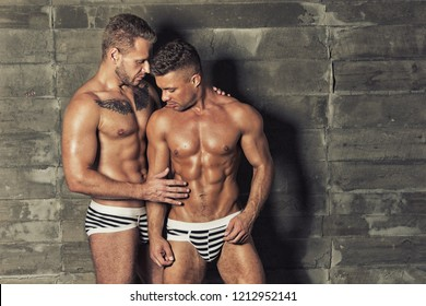 Two sexy guys. Sport, love and relationships.