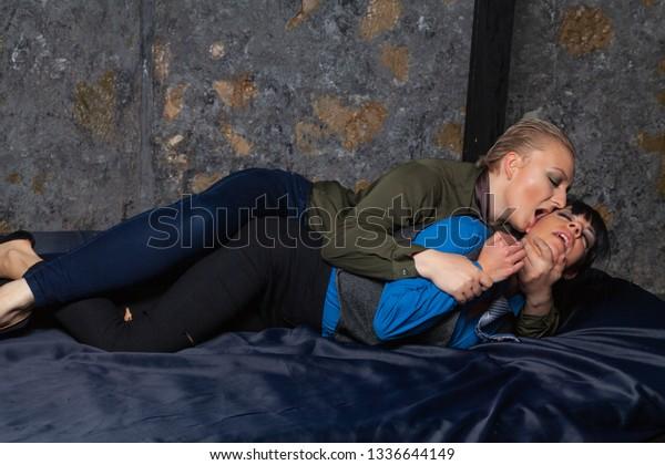 Sexy Lesbian Office Girls