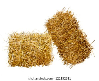 two sheaf of hay, isolated on white