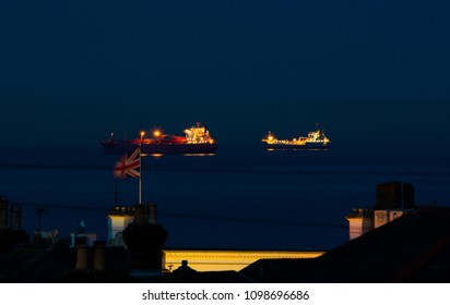 Two Ships and British Flag