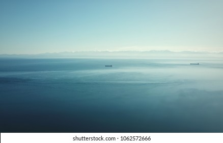 Two ships in the ocean
