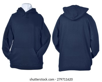 Two side of wrinkled blank blue shirts, long sleeve shirt, golf shirt, V-neck and hoodie. Clipping path included. Ready for your design or logo.