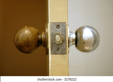 two sides of a doorknob