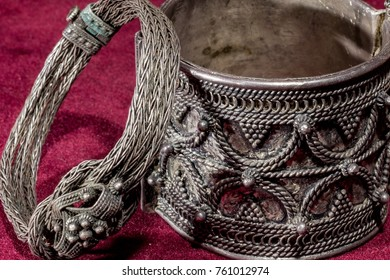 Two silver bracelets with filigree work