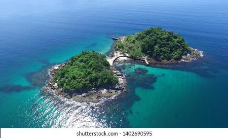 Two Sisters Island - Angra dos Reis - Rio de Janeiro - Brazil  - Shutterstock ID 1402690595