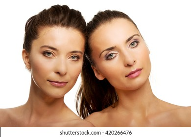 Two sisters with make up.