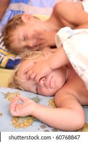two sleeping kids