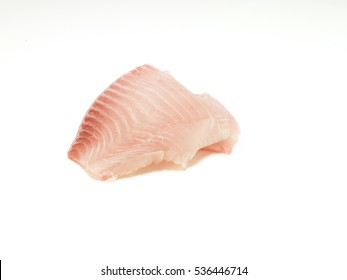two slice fish isolated on a white background