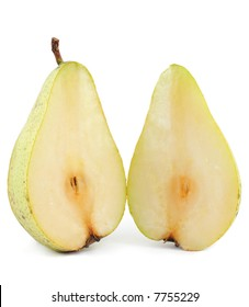 Two slices of pear
