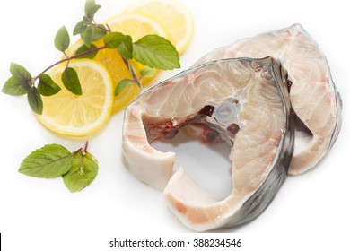 two slices of the Sturgeon (disambiguation) with lemon