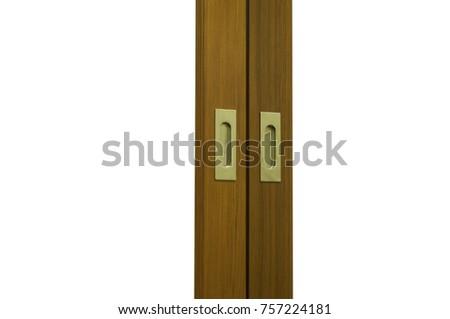 Two Sliding Teak Wood Door Frames Stock Photo (Edit Now) 757224181 ...