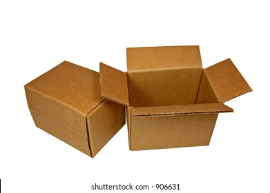 Two Small Corrugated Shipping Boxes
