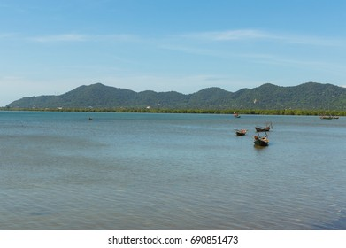 Two small fishing boat floating on the water